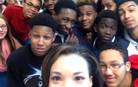 CBS Atlanta 46 News Anchor Visits North Atlanta High School