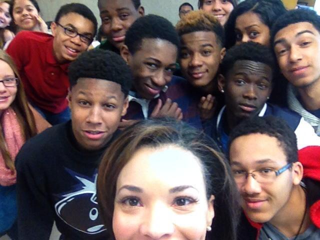 CBS+Atlanta+46+News+Anchor+Visits+North+Atlanta+High+School