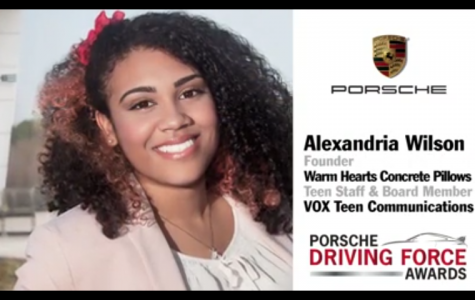 Junior Alexandria Wilson Wins Porsche Driving Force Award
