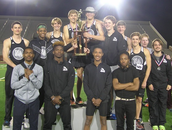The Warrior boys track team took second at the APS Championships Meet.