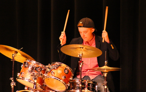 Taylor Diamond performed on the drums with his sister in the first annual North Star.