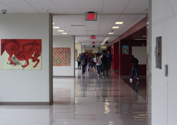 Right after the bell, there is several seconds of silence before the hallways are filled to the brim with bustling students.