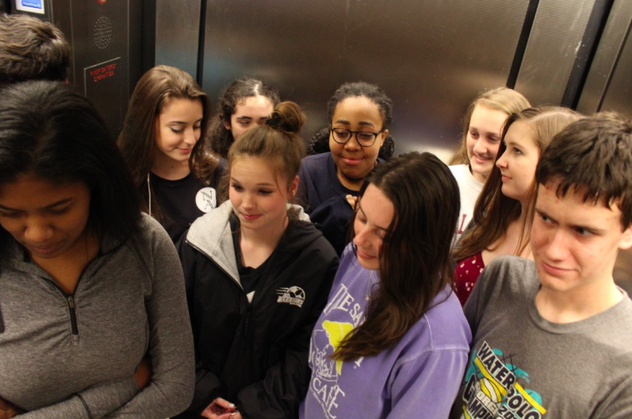 Elevators+generally+are+packed+full+of+students+who+hardly+talk.+