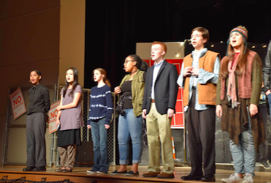 The Rent cast impressed many students and parents during its run in the North Atlanta Linda Faye Stevenson Theatre.