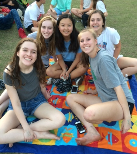 Students get ready for films under the stars at the North Atlanta Film Festival.