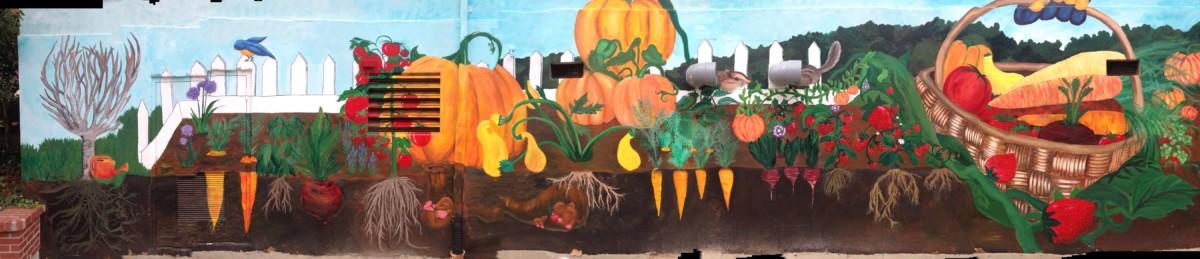 The Warrior Wire Nahs Art Students Tackle Garden Hills Elementary Mural