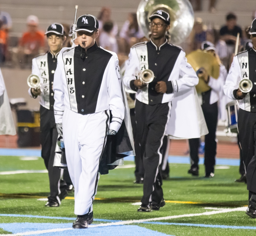 Junior+Emmett+Galloway%2C+a+three-year+band+veteran%2C+is+the+drum+major+for+this+year%E2%80%99s+Marching+Warriors.+%0A