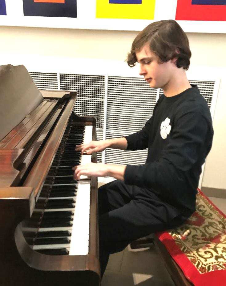 Composed Talent: Freshman Brandon Weinbaum has gone from zero to virtuoso in the span of three short years on the piano.