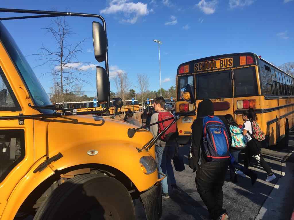 Homeward Bound: District bus drivers are an integral part of the daily life of students at North Atlanta.