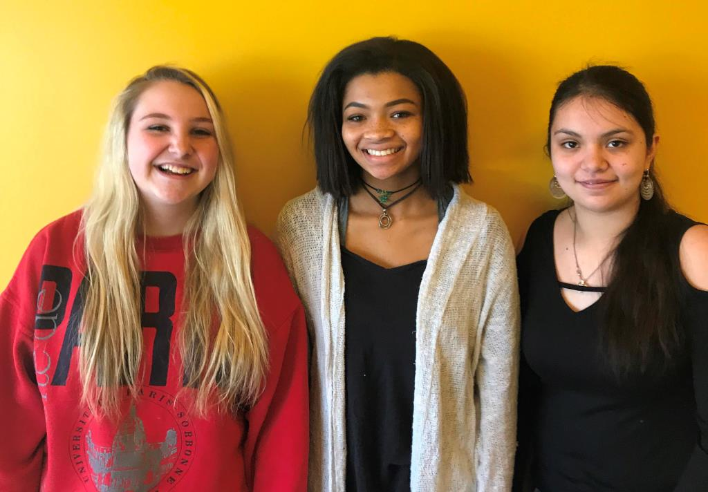 Bound for Rome? Sophomores Lillian Nail, Soleil Golden and Jessica Jacobo are advancing through the rounds to possibly attend Governor's Honors program at Berry College in summer 2018.