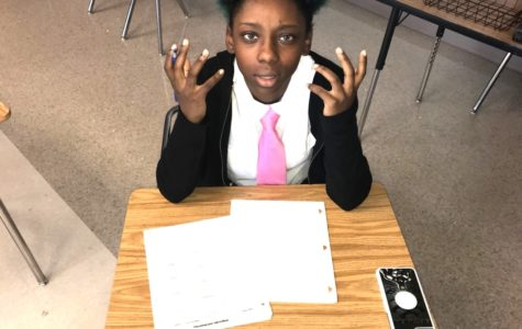 Under Pressure: Sophomore Asia Smith is one of many North Atlanta students seeking to get all the work in before the semester ends.