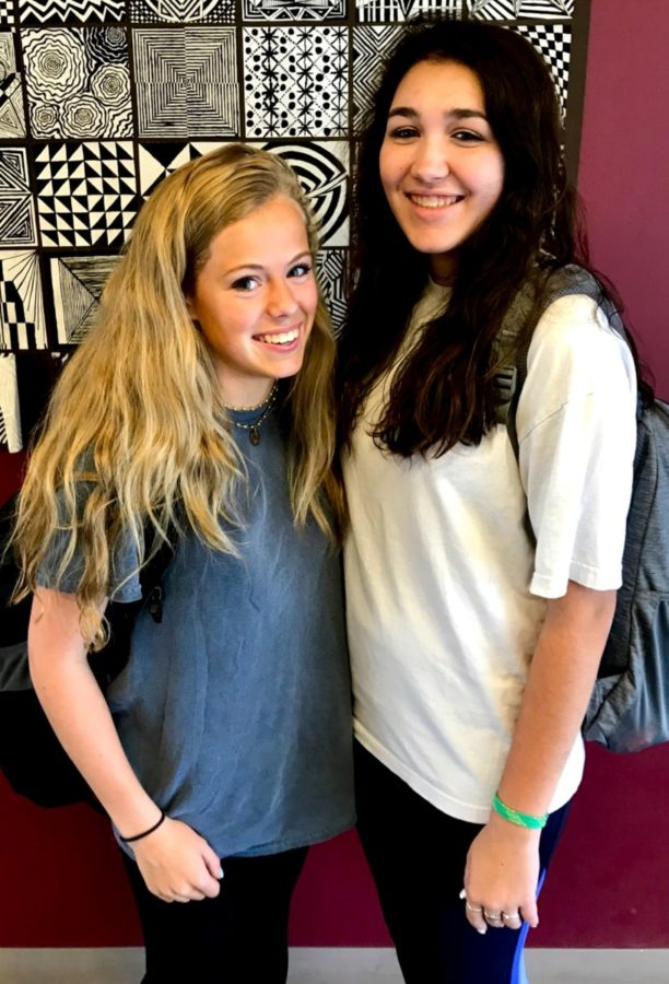 Summer to School: Students like sophomores Marisa Humphreys and Caroline Somoza come back from summer break and slowly get used to the start of a brand new school year.
