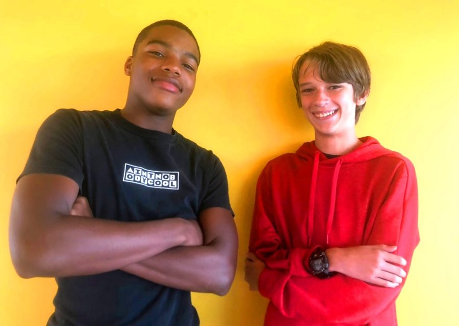 Content+Creators%3A+Sophomore+Armari+Hodges+and+Freshman+Nick+Schramkowski+are+making+names+for+themselves+as+high-school+aged+YouTubers.