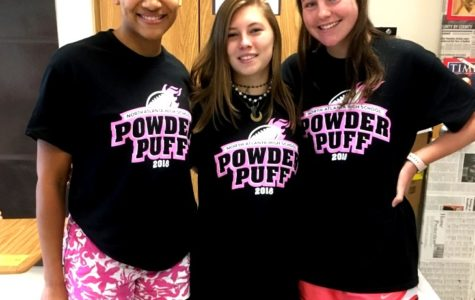 We Are the Champions: Seniors Hunter Smith, Frances Mosley and Parker Dingman were geared up to take on all comers at Thursday's Powder Puff game. The seniors beat the sophomores to take the crown.