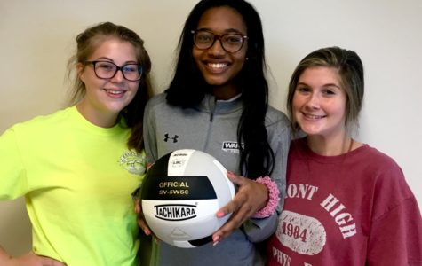 Bump, Set, Spike, Win: Seniors Jenna Campbell, Chelsea Howard, and Pressley Perkins prepare for a successful volleyball season by training the team and boosting morale.