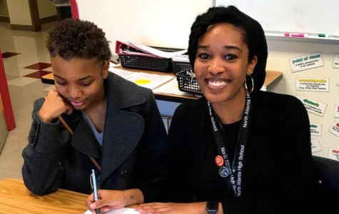 Book It: Literature instructor Kaila Corbin takes pride working with her students, such as freshman Asia Abernathy, and teaching her classes to analyze new literature every day.