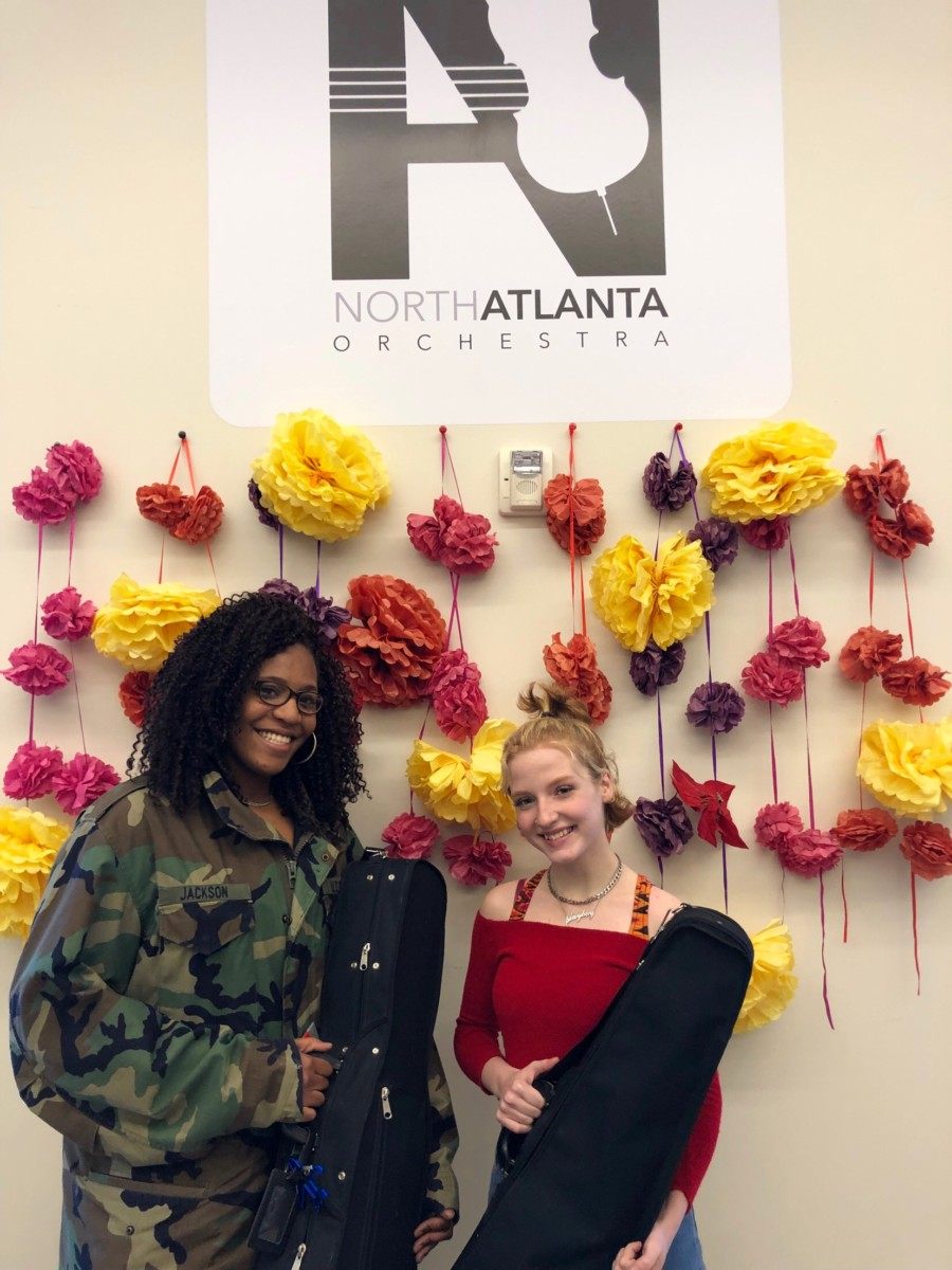Musical Scores: Junior Dionne Jackson and Rhiann Ashmore perform at the LGPE event as part of the North Atlanta Orchestra.