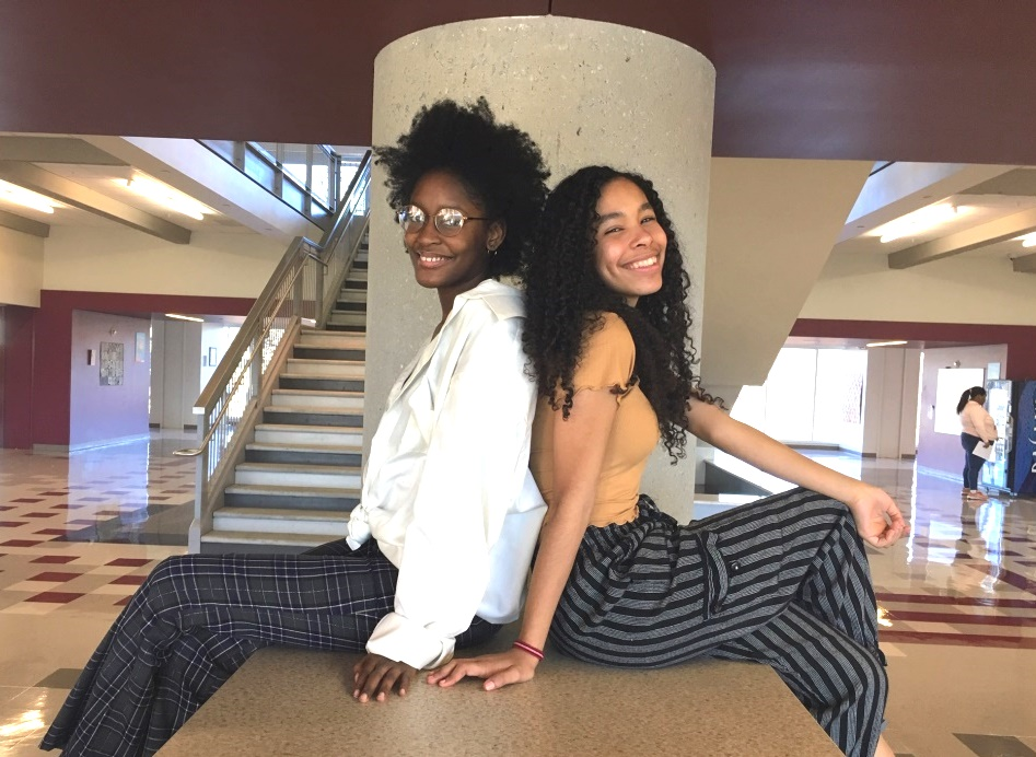 Beauty in Prose: Juniors Sydney Jones and Leah Overstreet are leaders of the North Atlanta Slam Poetry Club, a creativity-based organization designed to help students express themselves in various literary forms.