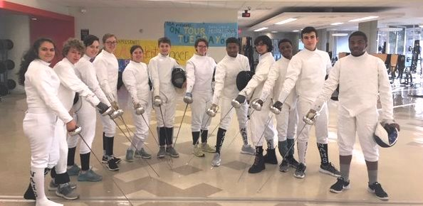 Sword to the Sword: Ava Behan-Sahib, Andrew Ellis, Olivia Elgison, Lily Turner, Gwyneth Smith, Ethan Povlot, Virginia Jackson, Shemar Debellotte, Milan Capoor, Bryce Winston-Morgan, Michael Mazzeo, Dauthier Debe, the members of this year's fencing team, have come back from an exciting state tournament.