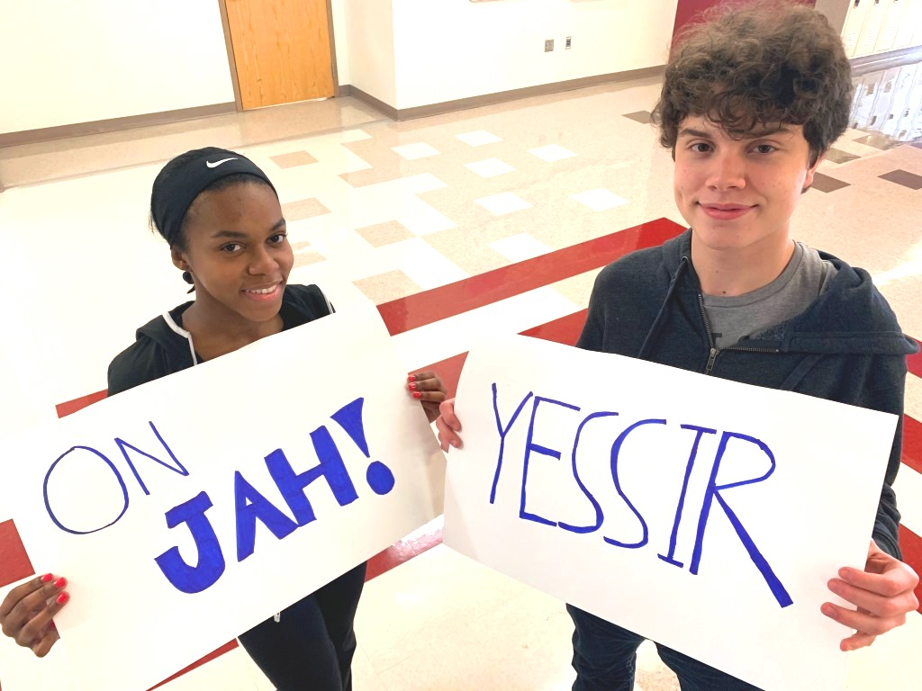 That Slaps: Senior Hyyat Sabree and junior Liam Hurteau join in on the new wave of slang that has become popularized in North Atlanta.