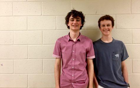 M.A.T.H: Seniors Jake Churchill and Quint Gfroerer represent the school Mu Alpha Theta club through math tutorials and competitions.