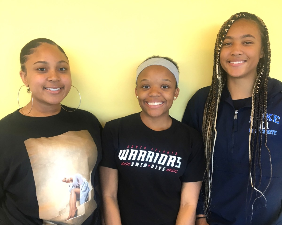 Successful Students: Juniors Janejha Jones, Skye Walker and Kennedy Johnston are role models in the community.