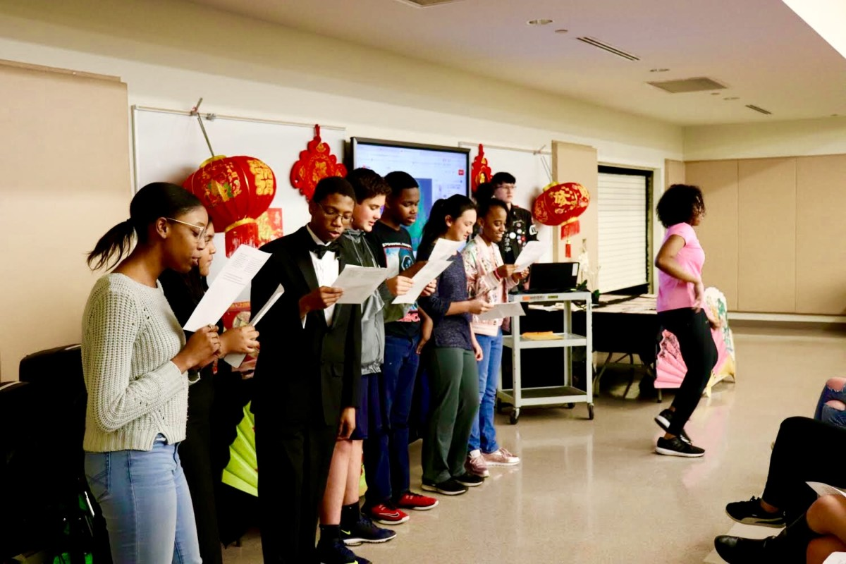 Chinese Core: The North Atlanta students perform their separate pieces for the Chinese Program to celebrate the Chinese culture and language.