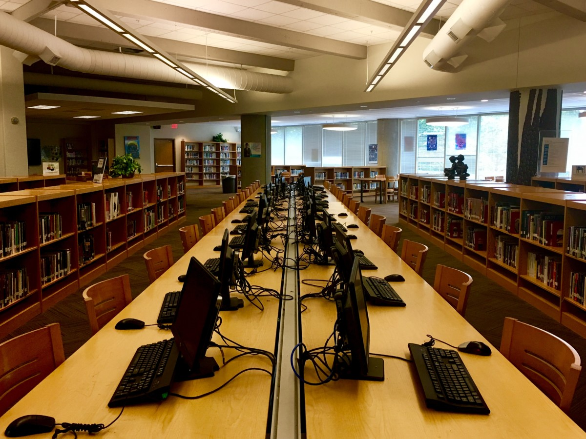 The Room Where it Happens: The North Atlanta library is both one of the most beautiful places in the school and the most inaccessible due to the rule implemented to have a pass.