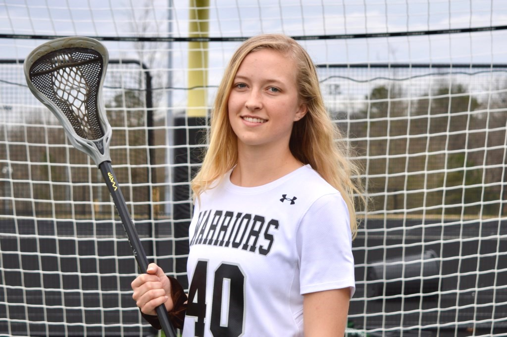 End of the Line: Senior captain Keely Fitzsimmons has been a leading offensive force for Warrior girls lacrosse for successive seasons.