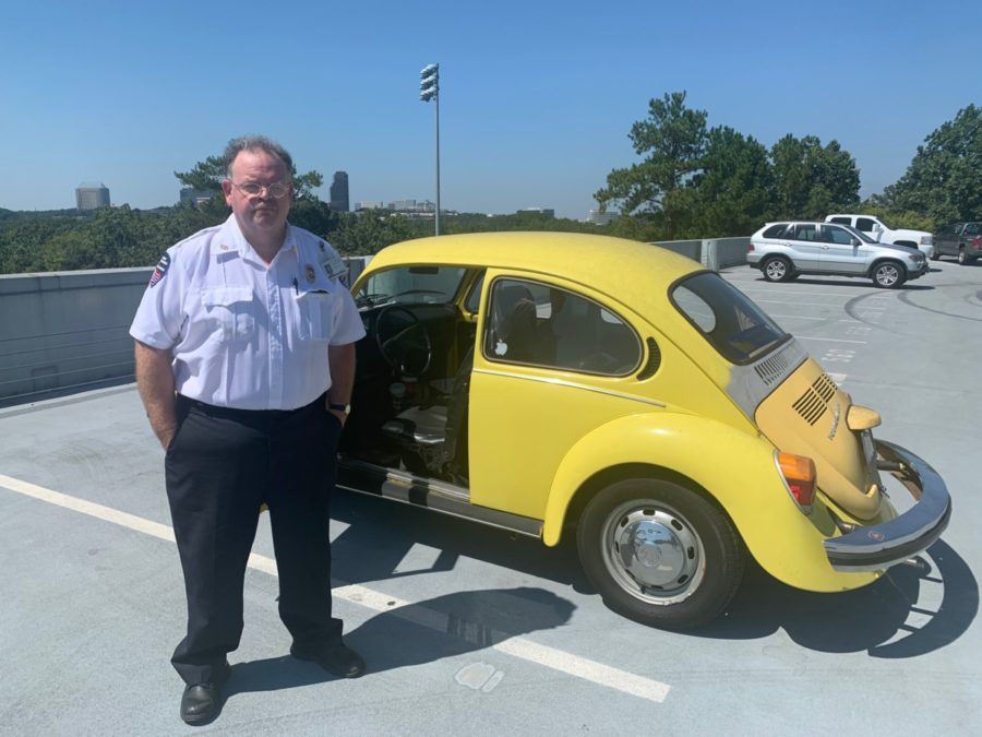Car Craziness: Darren Voyles makes sure the parking deck stays safe and secure