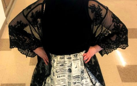 Hallway Couture: IB Theory of Knowledge teacher Amy Shilling always rocks her own distinctive neo-Victorian look.