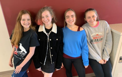 GHP Celebrities: North Atlanta students get involved in Governor's Honors. (Left to Right) Sparrow Harrell, Eve Harclerode, Caroline Newbern, and Erin Hicks