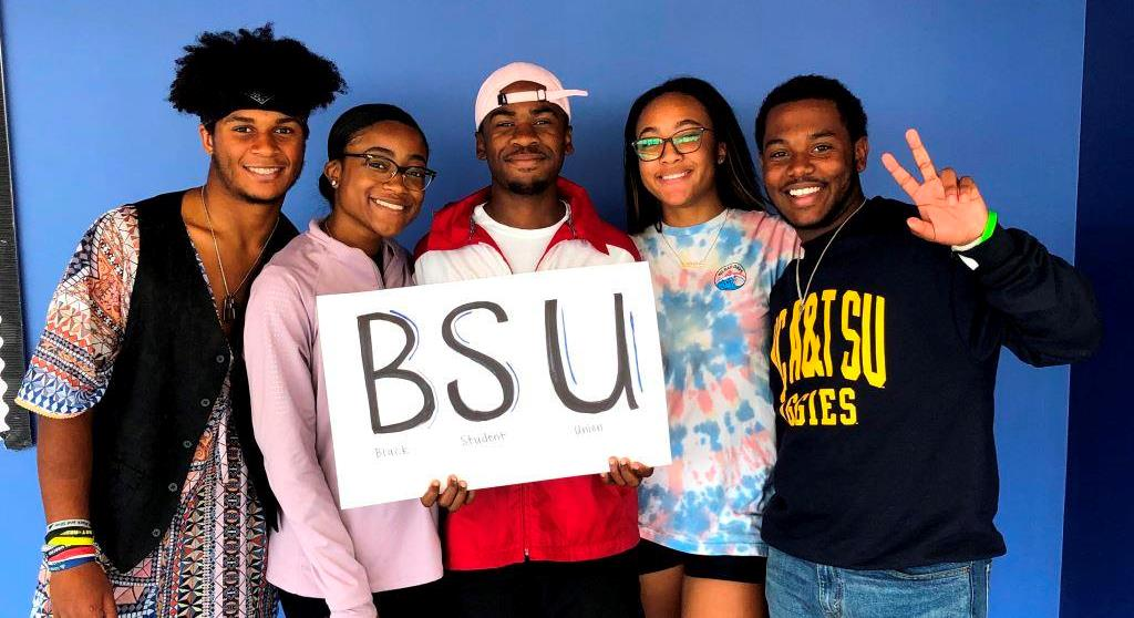 Exemplifying Excellence: Members of the Black Student Union are excited for the club's second year at North. Shown left to right are Sterling Fleury, Morgan Forbes, Brathwaite, Kennedy Johnston and Xavier Anderson