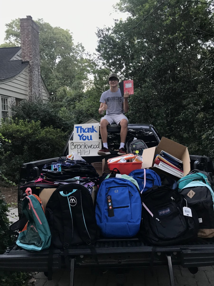 Pickup Sized Proportions: Senior Anton Mertens helps students in need