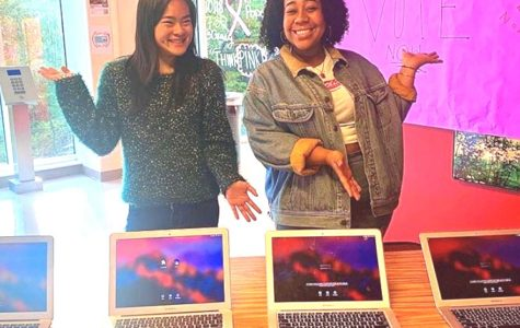 Ballot Boosters: Seniors Fiona Liu and Lenox Johnson are part of a school-based organization that's pushing first-time voters at North to exercise their voice over local, state and national election races.