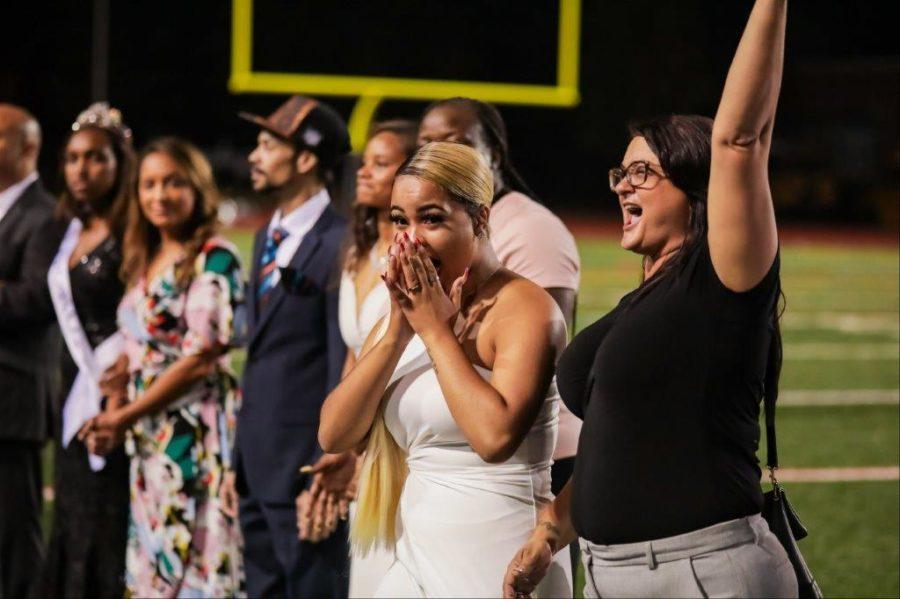 Killer Queen: Miss North Atlanta Amira Jones is overcome by the emotion of her big homecoming win.
