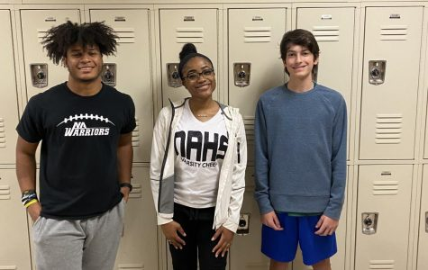 Studious Students: Seniors Sterling Fleury and Morgan Forbes and Junior Evan Elgison collaborate for iBuddy meeting