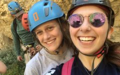Awesome Adventures: Junior Nora Rosenfeld and friend smile as they take on new adventure