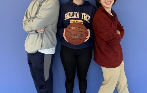 School Spirit: Juniors Charlie Ferguson, Honor Crandall, and Troy Walts dress up for Jersey Day
