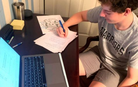 Long-Distance Learning: Like so many other North Atlanta students, freshman Henry Peck has had to learn the ins-and-outs of distance-education platforms since the school went to remote status starting on March 17.