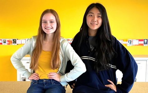 Artistic Achievement: Sophomores Annie Kim and Sparrow Harrell receive Scholastic Award for art and writing, respectively.