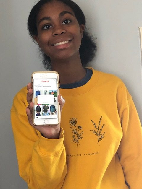 Shop Til You Drop: Sophomore Lena Hoover can't resist the temptation of online shopping while stuck at home.
