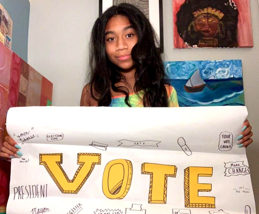 Growing Voices: Several national initiatives are encouraging voting-aged North Atlanta students to make their presences felt at the ballot box. Junior Regan Murray is one of many who encourages her peers to cast their votes in upcoming elections.