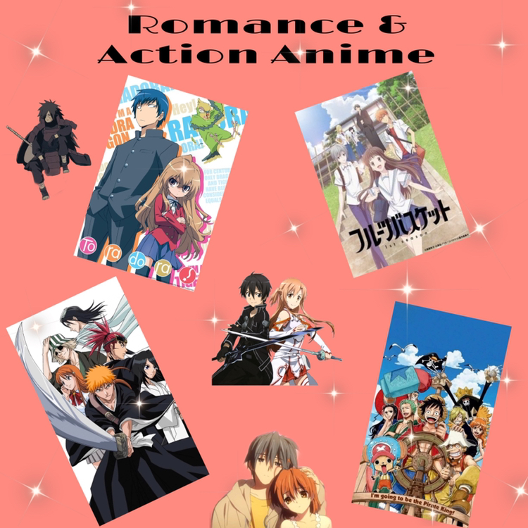 Romance+and+Action+Anime%3A+Shows+known+in+the+anime+community+like+%22Toradora%22+%28top+left%29%2C+%22Fruits+Basket%22%28top+right%29%2C+%22One+Piece%22%28bottom+right%29+and+%22Bleach%22+%28bottom+left%29+are+great+animes%2C+but+should+boys+hate+on+other+people%2C+especially+girls%2C+for+liking+romance+anime+more+than+action+and+thriller+genre+animes%3F