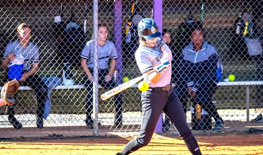 Softball+Slammer%3A+Sophomore+Cece+Smith+is+poised+to+hit+that+ball+right+out+of+the+park.