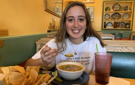 Fine Dining: Junior Ava Granot is pictured enjoying a fabulous meal at Jalisco's Mexican Restaurant. She is not alone in her love for this great place! Many Dubs can be seen dining out at Jalisco's any night of the week.