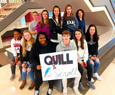 Journalism Excellence: The Quill and Scroll Honors society showcases some of the best and brightest of the journalism pathway at NAHS. Shown above is some of last year