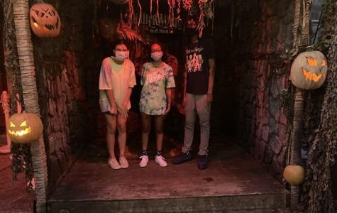 Spooky Season: Shown above from left to right are sophomores Adanna Majekodunmi, Se'Lah Robinson (writer) and Akil Wharry. Netherworld is a great place to go for some Halloween thrills, but just be prepared to maybe spend more money than you had hoped.