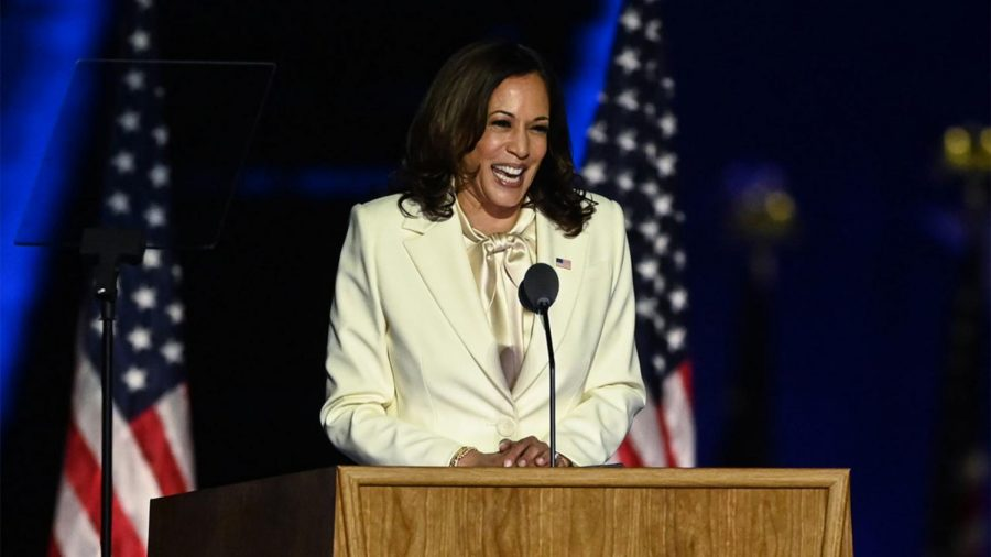 Glass+Ceiling+Shattered%3A+Sen.+Kamala+Harris+%28D-CA%29+makes+history+as+the+first+female+and+person+of+color+to+hold+the+position+of+Vice+President.+