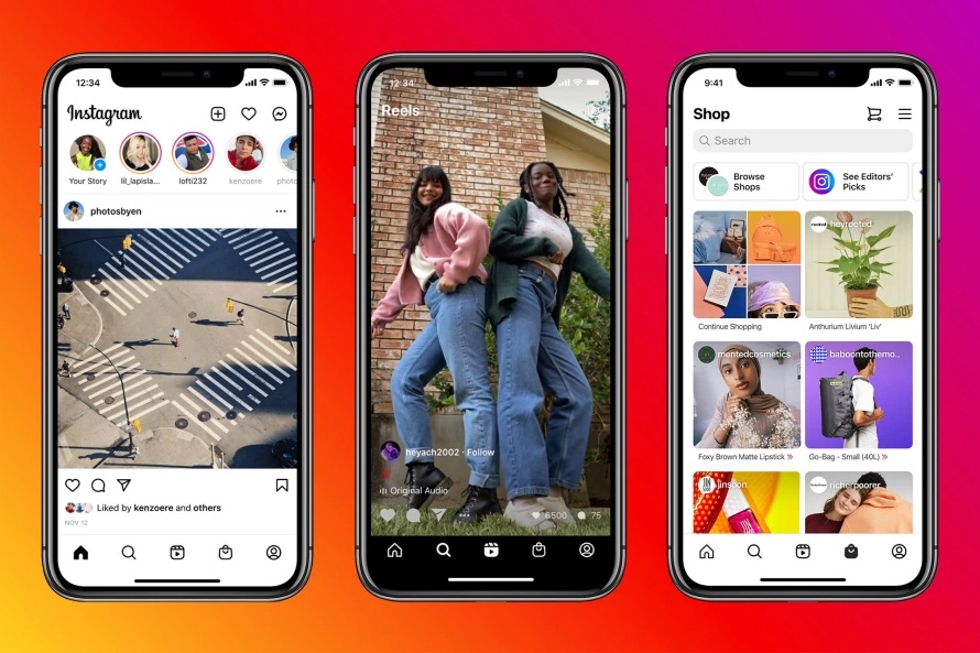 Update+Gone+Wrong%3F+Many+social+media+users+are+outraged+by+the+change+in+layout+to+the+iconic+Instagram+app.+Now+featuring+a+shopping+page+and+Reels%2C+time+will+only+tell+if+this+new+normal+truly+catches+on.+